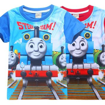 2017 new Arrival summer Girls boys t-shirts thomas friends Children Baby kids Tops Tees clothes cotton short sleeve t-shirt