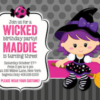 Halloween Invitation, Halloween Birthday Invitation, Halloween Party Invitation, Kids Birthday Party Invitations, Birthday invitation, 5x7