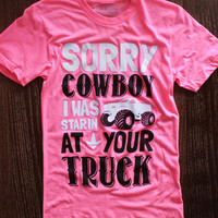 Luckless Clothing Co   Sorry Cowboy (Neon Pink)