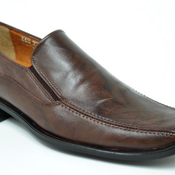 Baronett 7704 Men's Genuine Leather Brown Dress Shoes
