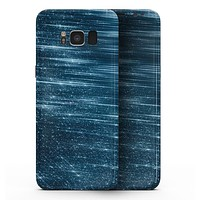 Radiant Blue Scratched Surface - Samsung Galaxy S8 Full-Body Skin Kit
