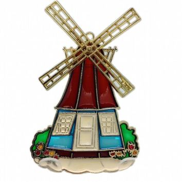 Plastic Suncatchers Dutch Windmill Gift Idea