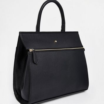 ASOS Tote Bag With Stud Detail at asos.com