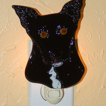 "Custom Fused Glass Night Light - ""Hector"" - SOLD - taking orders"