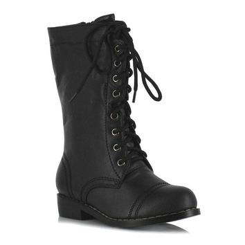 Ellie Shoes E-101-TUFFSTUFF 1 Ankle Combat Boot Children