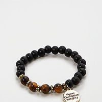 Integrity Tiger's Eye Beaded Bracelet