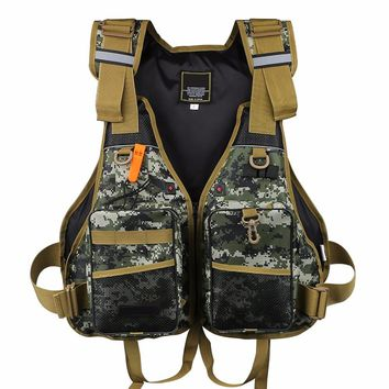 Outdoor Sport Fishing Life Vest Breathable Swimming Life Jacket Safety Waistcoat Survival Utility Vest Fishing Tackle Equipment