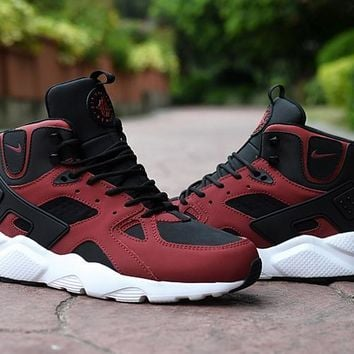 Air Huarache Run Ultra High Wine Red/Black Sneaker Shoes