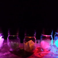 Set of 3 - Solar LED Mason Jars Red White Blue Violet Green Yellow Pink Wedding Lighting Hanging Outdoor/Indoor Party Garden Lantern