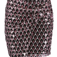 Textured Sequin Wrap Woven Mini Skirt | Boohoo