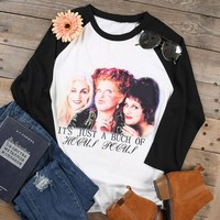 """It's just a bunch of Hocus Pocus"" Casual Baseball T-Shirt"
