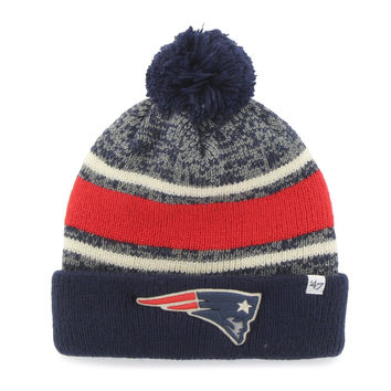 New England Patriots NFL '47 Fairfax Cuff Knit Hat with Pom