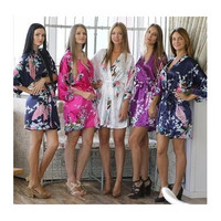 Silk Womens Robe Sexy Wedding Gown Silk Robes For Bridesmaids Nightgown Sleepwear Nightdress Sat [7983383367]