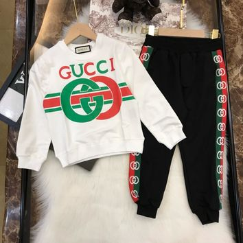 Gucci Hot New Baby Girls Boys Kid  Long Sleeve Design Hoodies Sweatshirt Clothes