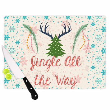 "Famenxt ""Jingle All The Way"" Holiday Digital Cutting Board"