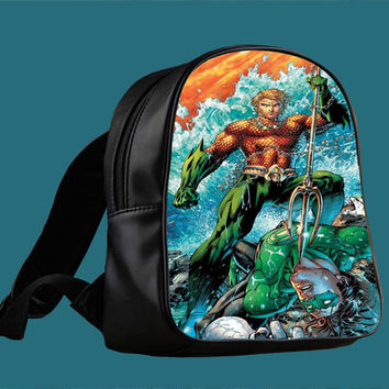 Justice League Aquaman Comic for Backpack / Custom Bag / School Bag / Children Bag / Custom School Bag *
