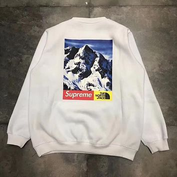 Supreme x TNF Mountain Crewneck Round Neck Top Sweater Pullover