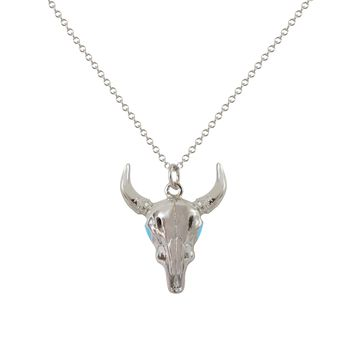 Silver Longhorn Necklace