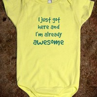 Baby Clothes - Awesome - Kids Tees, Baby One-Pieces