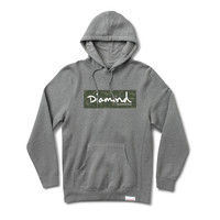 Tonal Camo Box Logo Pullover Hoodie in Heather