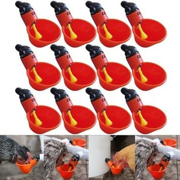 2/5/10 Pcs Feed Automatic Bird Coop Poultry Chicken Fowl Drinker Water Drinking Cups