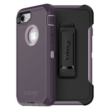 LMFON2D OtterBox DEFENDER SERIES Case for iPhone 8 & iPhone 7 (NOT Plus) - Frustration Free Packaging - PURPLE NEBULA (WINSOME ORCHID/NIGHT PURPLE)