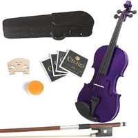Mendini 15-Inch MA-Purple Solid Wood Viola with Case, Bow, Rosin, Bridge and Strings