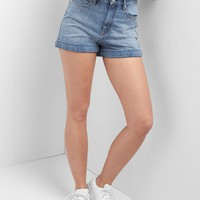 Super high rise denim roll shorts | Gap