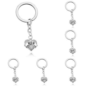 Swarovski Crystal 'Simple Message' Heart Charm Key Chain