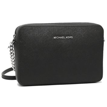 MICHAEL Michael Kors Jet Set Travel Large Crossbody Black/Silver Hardware | Overstock.com Shopping - The Best Deals on Crossbody & Mini Bags