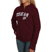 Texas A&M Aggies Ladies Distraction Full Zip Hoodie - Maroon