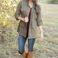 I'll Be The One Jacket: Olive