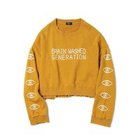 Brain Washed Generation Distressed Jumper - shopdevi