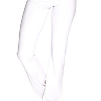 White Stretchy Fit Active Wear Yoga Pants