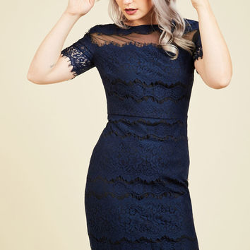 Fete-Ready Flawlessness Lace Dress | Mod Retro Vintage Dresses | ModCloth.com