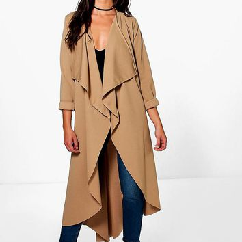 Grace Waterfall Duster | Boohoo