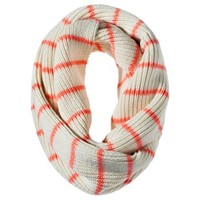 MERONA Orange/White Knit Scarf  - OSFM