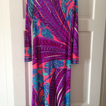Emilio Pucci Long Sleeve Vintage Dress