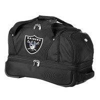 Oakland Raiders 22-in. Wheeled Drop-Bottom Duffel Bag (Black)