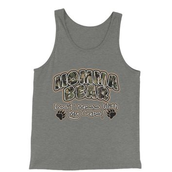 Momma Bear Camo Don't Mess WIth My Cubs Jersey Tank Top for Men