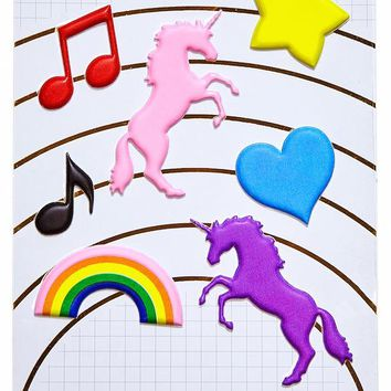 Make Rainbows Puffy Stickers Sheet
