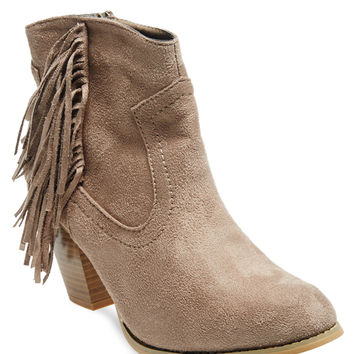 Wild West Fringe Faux Suede Booties | Wet Seal