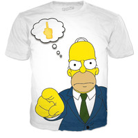 Homer Simpsons Thoughts T Shirt