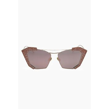 Salty Arrow Sunglasses - Rose Gold/Milky Pink