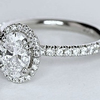 2.05ct F-SI2 Oval Diamond Engagement Ring 18kt JEWELFORME BLUE 900,000 GIA certified diamonds