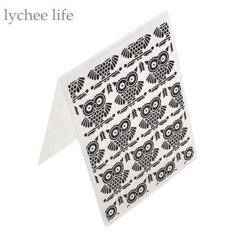 Plastic Embossing Folder Template DIY Scrapbooking Card Making Decoration Papercraft Owl Pattern