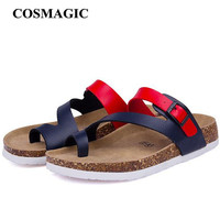 New Summer Cork Slides Sandals Flats 2017 New Women Casual Slip on Beach Slipper Flip Flops Shoe Free Shipping Plus Size
