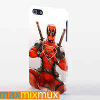 Deadpool Love Heart iPhone 4/4S, 5/5S, 5C Series Full Wrap Case