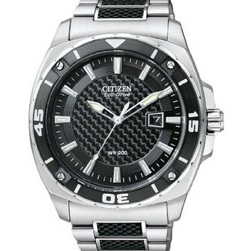 Citizen AW1090-58E Men's Eco Drive Black Dial Two Tone Stainless Steel Watch