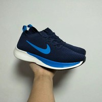 """Nike"" Men Sport Casual Fashion Flyknit Sock Sneakers Thick Bottom Running Shoes"